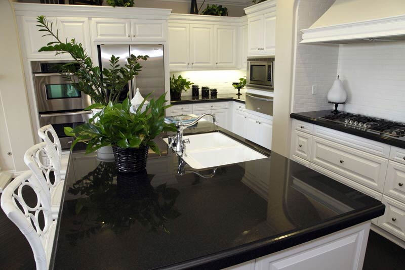 Tx Granite Countertops Black White Cabinets Elite Countertops Houston